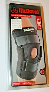 McDavid Dual Disk Hinged Knee Brace 422R Size Large - Fits Left or Right Knee