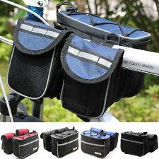 Bike Bicycle 4-IN-1 Multi-function Handlebar Front Frame Tube Pannier Bag +Cover