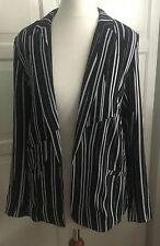 H&M Jacke Cardigan fürs Frühjahr / Sommer schwarz-weiß gestreift Größe 34