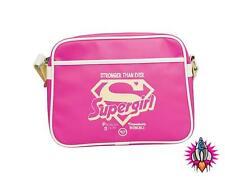 DC COMICS SUPERGIRL LOGO PINK MINI RETRO STYLE SHOULDER MESSENGER HANDBAG BAG