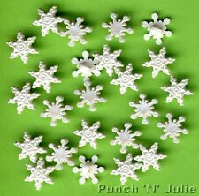 Mini Pearl Snowflakes - White Snow Winter Christmas Dress It up Craft Buttons