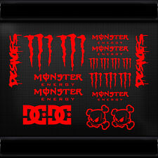 20x JDM MONSTA CLAWS BLOCK DC SHOES DECAL STICKER CAR CARAVAN BIKE HELMET LAPTOP