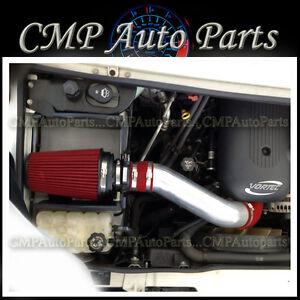 RED HEATSHIELD COLD AIR INTAKE KIT FIT 2003-2007 HUMMER H2 6.0 6.0L V8 ENGINE