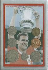 Nottingham Forest Jack Burkitt vintage F.A CUP FINAL gagnants Coin Ensemble Cadeau 1959