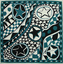"NWOT Authentic CHRISTIAN LACROIX ""STARS"" Silk Scarf Foulard"