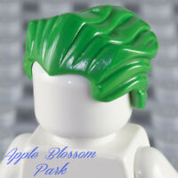 NEW Lego Male Minifig Slicked-back GREEN HAIR Joker Batman Widows Peak Head Gear
