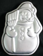 Wilton Vintage 1980 502-1646 Snowman w/Broom Christmas Cake Pan
