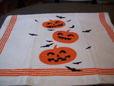 Pumpkin Bats Bat Pumpkins Jack o Laterns Crochet Top Kitchen Towel