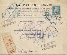 LETTRE ENVELOPPE LA PATERNELLE COMPAGNIE D'ASSURANCE POUR EPINAL 1932
