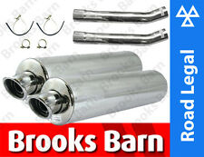 CB1100 X11 99-02 Alloy Round Viper Exhaust System + Link Pipe E-Marked