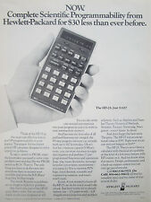 5/1976 PUB HP HEWLETT PACKARD HP-25 SCIENTIFIC CALCULATOR CALCULATRICE AD
