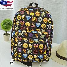 USA Girl Emoji Backpack Rucksack School Travel Shoulder Bag BookBag Satchel SF