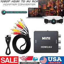 HDMI to AV / RCA Scaler Converter Box Composite Audio Video CVBS Adapter 1080P