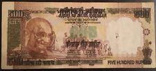 India 500 Rupee Note Offset Print Error Ultra RARE