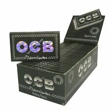 Box OCB  Premium  Black Double Cigarette Rolling Paper (2500 sheets)