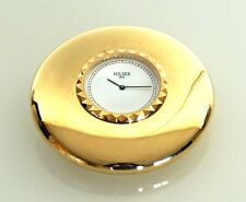Clock OFFICE/ready for installation Quartz Stone Gold Plated Brass Jaccard