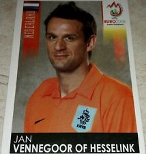 FIGURINA CALCIATORI PANINI EURO 2008 OLANDA VENNEGOOR OF HESSELINK ALBUM