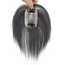 TOP 100% Human Hair Topper Cover gray hair Hairpiece top Piece For Women Man