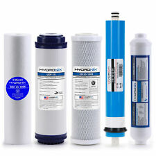 Reverse Osmosis Replacement Filter Set RO Cartridges 5 pcs w/ 50 GPD Membrane