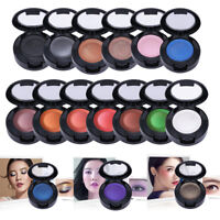 Women Powder Eye Shadow +Mirror+Brush Makeup Matte Eyeshadow Shimmer Waterproof