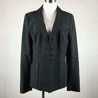 Classiques Entier 8 Blazer Jacket  career black textured pinstripe wool