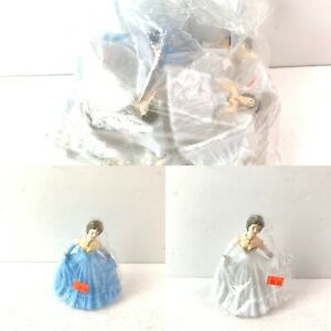 Vintage Lot Of 20 Bride Or Princess Cake Toppers Wedding Gown Prom NOS