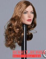 "1//6 Female Head Sculpt Long Curly Hair For 12/"" PHICEN Suntan Figure Doll U.S.A."
