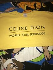 Celine Dion World Tour 2008-09 Taking Chances 2 Side Graphic Tee Men Xl