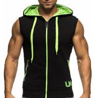 Blouse à capuche pour hommes Sweatshirt décontracté Sweat gilet sport gym veste
