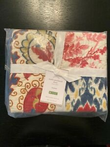 NEW Pottery Barn Malbi Patchwork Sham Ikat Suzani Print Standard Quilted NEW