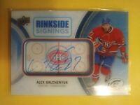 2016 UD Ice Rinkside Signings Alex Galchenyuk Autograph now Minnesota