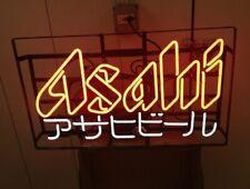 "Asahi Beer Neon Lamp Sign 17""x14"" Bar Light Garage Cave Glass Artwork"