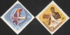 Russia 1961 Africa Freedom Day/Chains/Slavery/Torch/Flames/Maps 2v set (n45059)