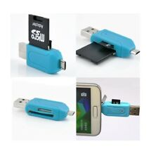 Micro USB OTG to USB 2.0 Adapter SD Micro SD Card Reader For Smartphones PC AU