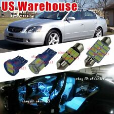 12-pc Aqua Blue LED Lights Interior Package Kit Fit for 02-06 Nissan Altima