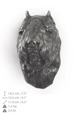 Bouvier des Flandres, statuette to hang on the wall,Art Dog Limited Edition, Usa
