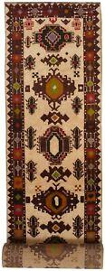 7424 # New Oriental Afghan 100% Wool Carpet Long Hallway Runner Rug 485 x 82 cm