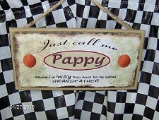 "Pappy (Basketball) 10 x 5"" Wood Sign"