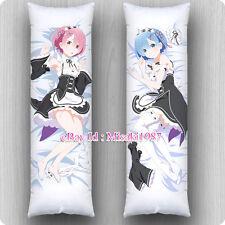 Re:Zero Dakimakura Rem Ram Anime Girls Hugging Body Pillow Case Cover