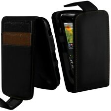 Housse Coque Etui Portefeuille Couleur Noir pour Blackberry Curve 8520