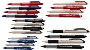 Football Club 4 Pack Pen Ballpoint Back to School Push down LFC Arsenal Chelsea