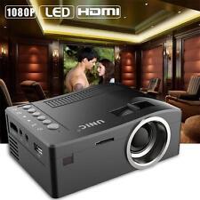 Mini LED LCD Projector HD 1080P Home Theater HDMI USB VGA AV Cinema Black EU GY