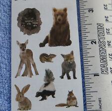 Mrs Grossman BABY WOODLAND ANIMALS - Half Strip of Stickers