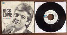 "NICK LOWE - Breakaway / L.A.F.S. - 7"" vinyl DUTCH IMPORT Netherlands F-Beat"