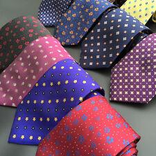 Men Elegant Flowers Floral Jacquard Ties 8cm Party Business Neckties BWTHZ0026