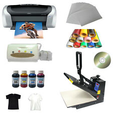Heat press machine transfer paper PU vinyl Printer Ink Business Kit