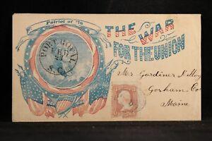 Civil War: SC, Port Royal 1860s Union Occupied George Washington Patriotic Cover
