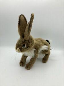 HANSA Portraits Of Nature Stuffed Plush Black Tail Jack Rabbit Easter Bunny
