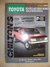 TOYOTA LAND CRUISER PICK-UPS & 4RUNNER CHILTON REPAIR MANUAL 1989-1996