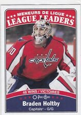 BRADEN HOLTBY 2016-17 OPC O-PEE-CHEE LEAGUE LEADERS SP #656 CAPITALS !